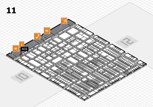 ProWein 2018 Hallenplan (Halle 11): Stand A02