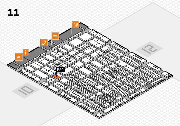 ProWein 2018 Hallenplan (Halle 11): Stand B50