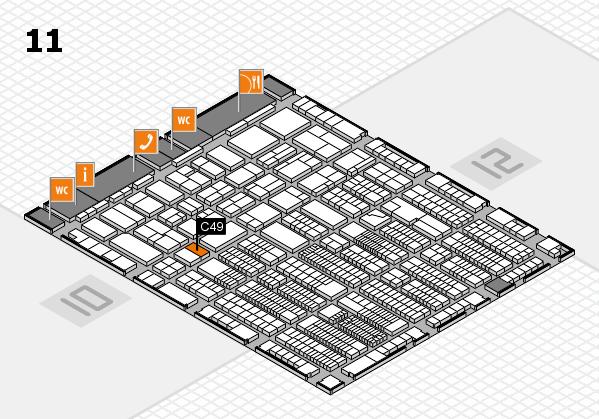 ProWein 2018 Hallenplan (Halle 11): Stand C49