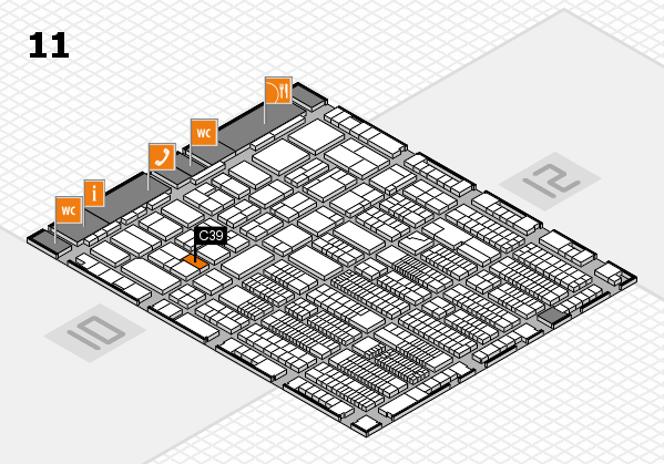 ProWein 2018 hall map (Hall 11): stand C39