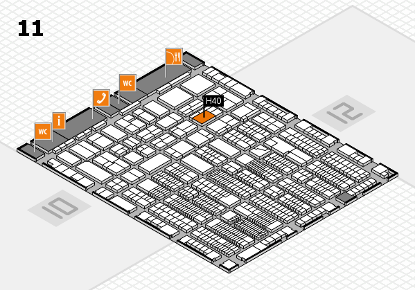 ProWein 2018 hall map (Hall 11): stand H40