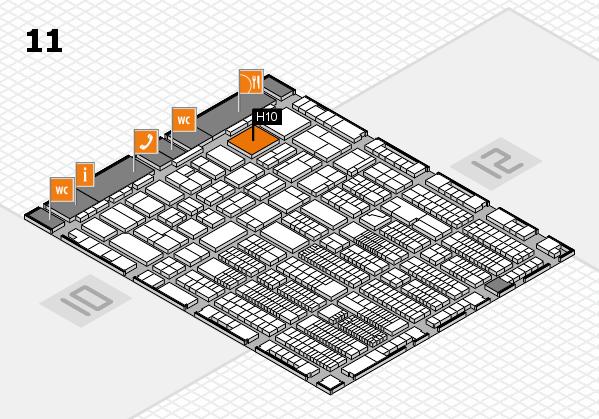 ProWein 2018 Hallenplan (Halle 11): Stand H10