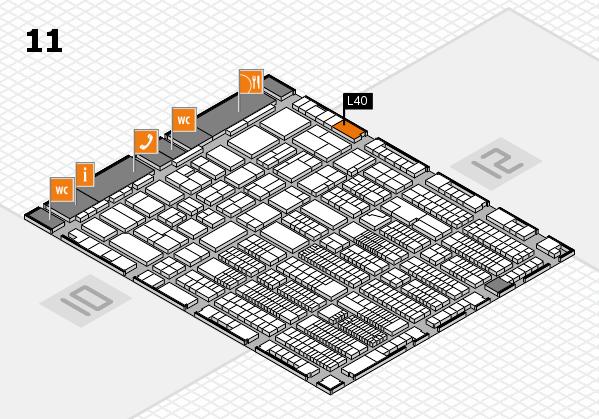 ProWein 2018 Hallenplan (Halle 11): Stand L40