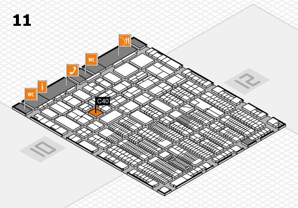 ProWein 2018 Hallenplan (Halle 11): Stand C40