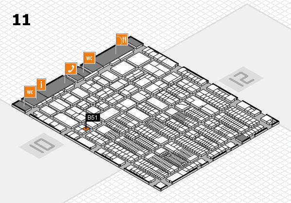 ProWein 2018 Hallenplan (Halle 11): Stand B51