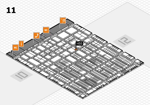 ProWein 2018 Hallenplan (Halle 11): Stand H55