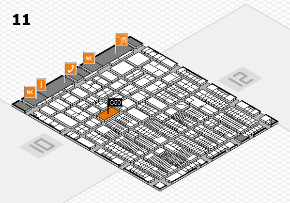ProWein 2018 hall map (Hall 11): stand C50