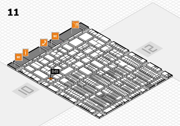 ProWein 2018 Hallenplan (Halle 11): Stand B49