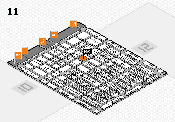 ProWein 2018 hall map (Hall 11): stand F50