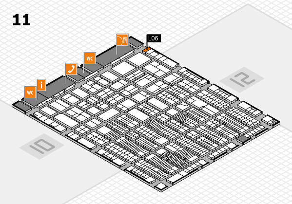 ProWein 2018 hall map (Hall 11): stand L06
