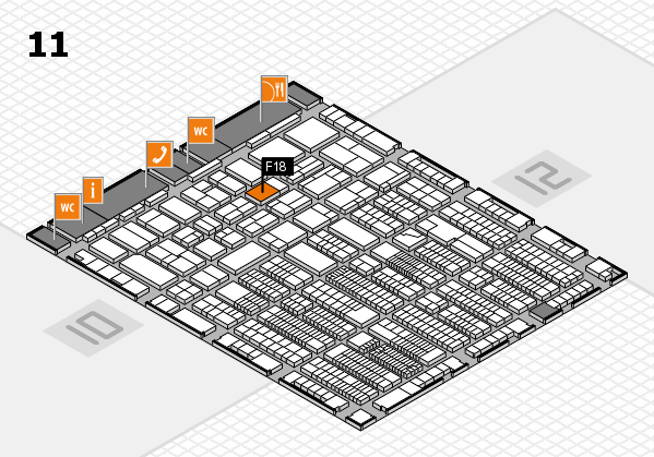 ProWein 2018 hall map (Hall 11): stand F18