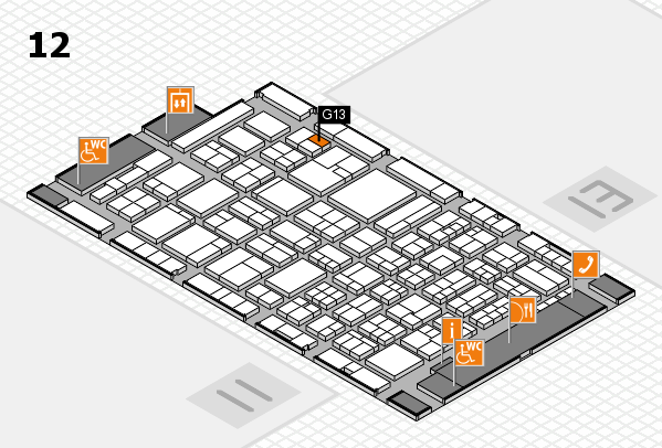 ProWein 2018 hall map (Hall 12): stand G13