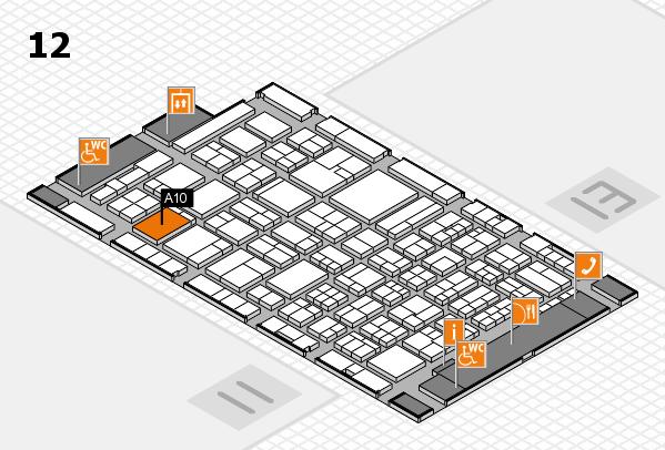 ProWein 2018 Hallenplan (Halle 12): Stand A10