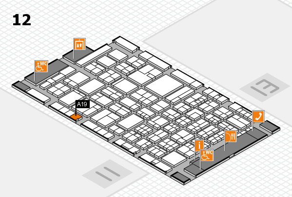 ProWein 2018 Hallenplan (Halle 12): Stand A19