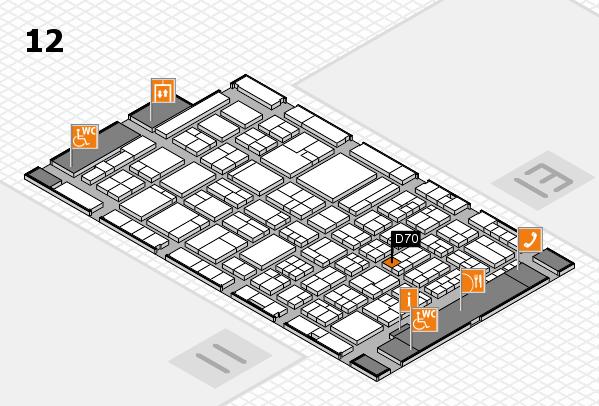 ProWein 2018 Hallenplan (Halle 12): Stand D70