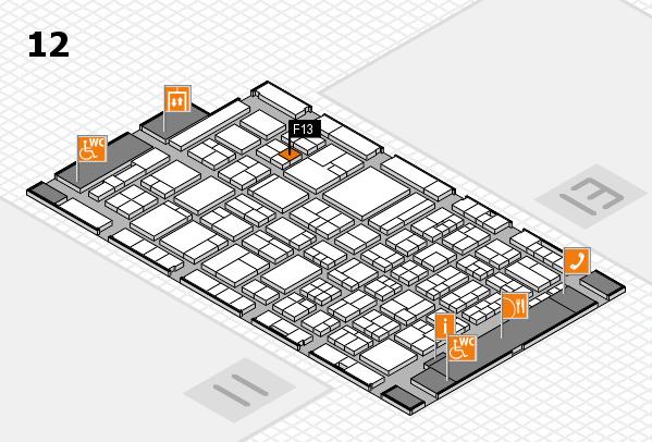 ProWein 2018 Hallenplan (Halle 12): Stand F13