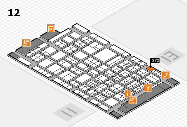 ProWein 2018 Hallenplan (Halle 12): Stand G70
