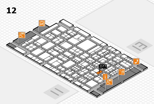 ProWein 2018 Hallenplan (Halle 12): Stand D77