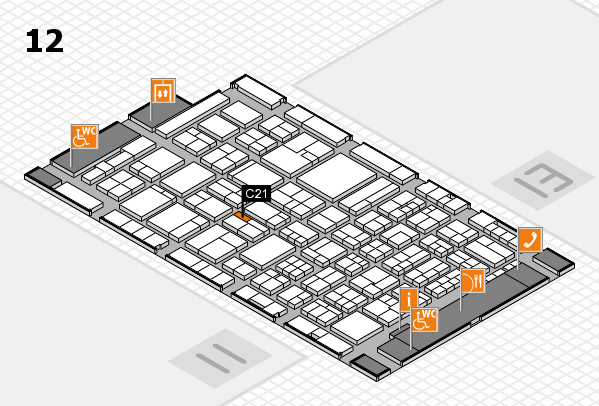 ProWein 2018 hall map (Hall 12): stand C21