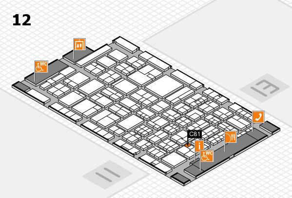 ProWein 2018 Hallenplan (Halle 12): Stand C81