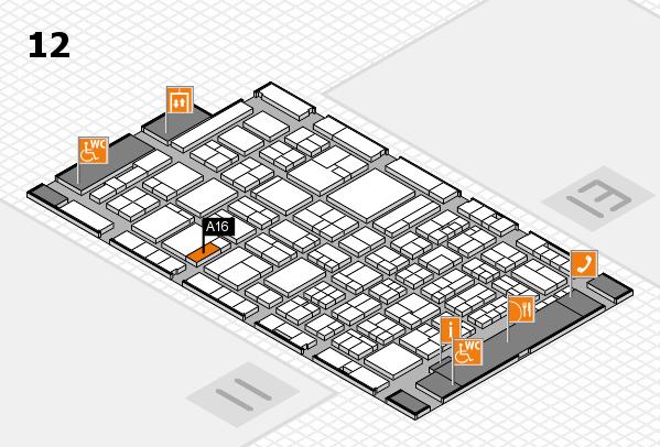 ProWein 2018 Hallenplan (Halle 12): Stand A16
