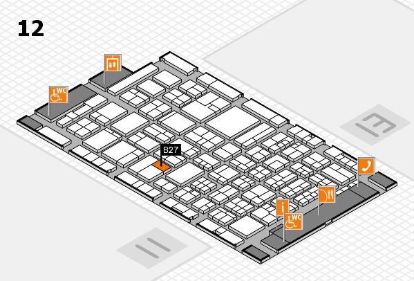 ProWein 2018 hall map (Hall 12): stand B27