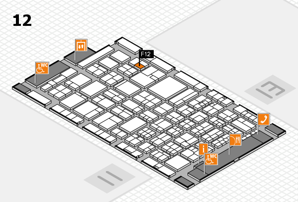 ProWein 2018 hall map (Hall 12): stand F12