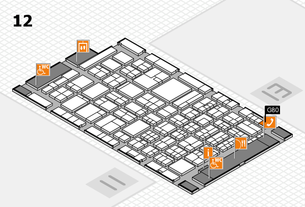 ProWein 2018 hall map (Hall 12): stand G80