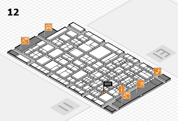 ProWein 2018 hall map (Hall 12): stand B66