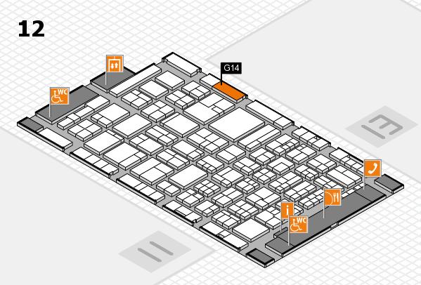 ProWein 2018 Hallenplan (Halle 12): Stand G14