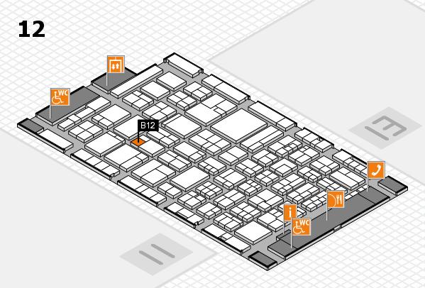 ProWein 2018 Hallenplan (Halle 12): Stand B12