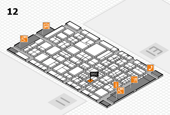 ProWein 2018 hall map (Hall 12): stand B50