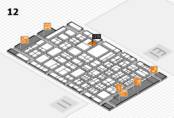 ProWein 2018 hall map (Hall 12): stand G19