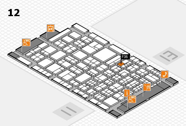 ProWein 2018 Hallenplan (Halle 12): Stand F38