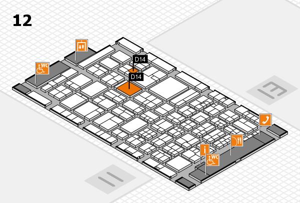 ProWein 2018 Hallenplan (Halle 12): Stand D14