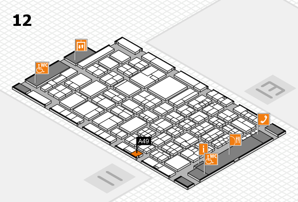 ProWein 2018 hall map (Hall 12): stand A49