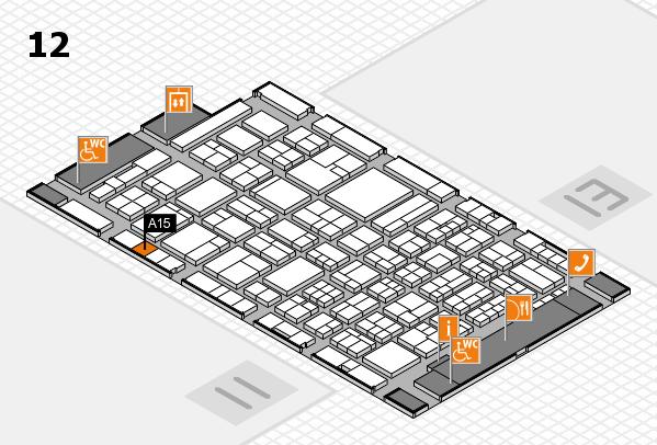 ProWein 2018 Hallenplan (Halle 12): Stand A15