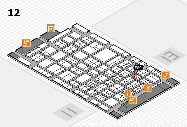 ProWein 2018 hall map (Hall 12): stand E80