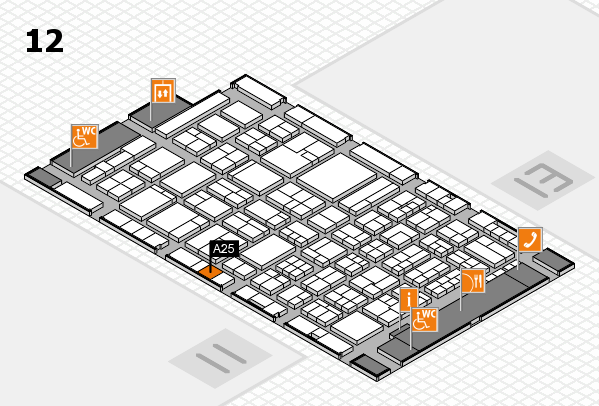 ProWein 2018 hall map (Hall 12): stand A25