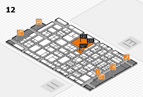ProWein 2018 Hallenplan (Halle 12): Stand E20, Stand E27