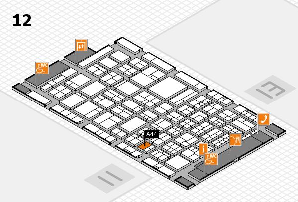 ProWein 2018 Hallenplan (Halle 12): Stand A44