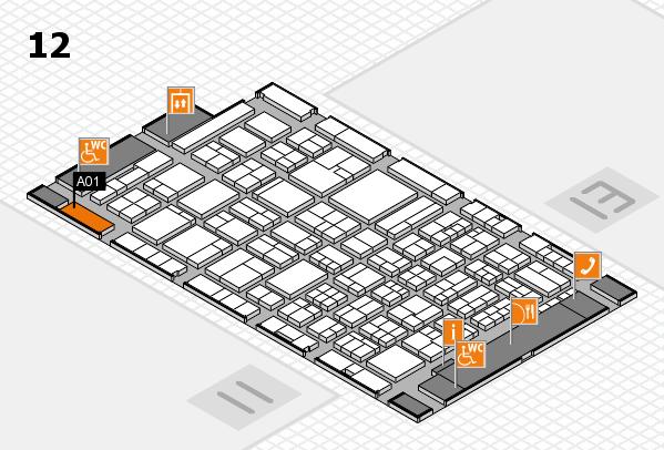 ProWein 2018 Hallenplan (Halle 12): Stand A01