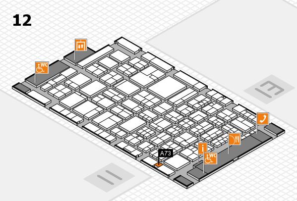 ProWein 2018 Hallenplan (Halle 12): Stand A73