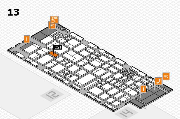 ProWein 2018 Hallenplan (Halle 13): Stand C21