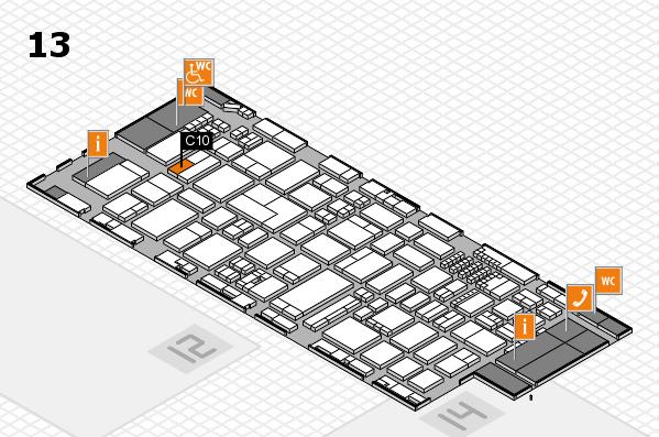 ProWein 2018 Hallenplan (Halle 13): Stand C10