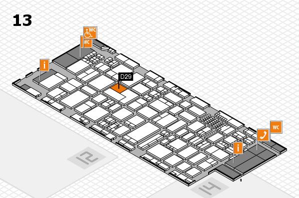 ProWein 2018 Hallenplan (Halle 13): Stand D29