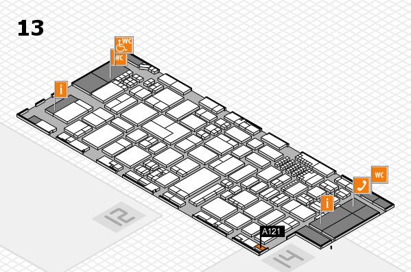 ProWein 2018 Hallenplan (Halle 13): Stand A121