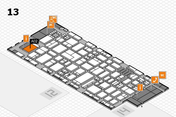 ProWein 2018 Hallenplan (Halle 13): Stand A02