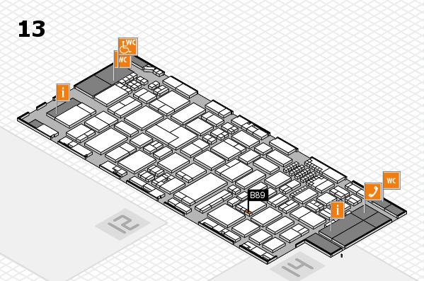 ProWein 2018 Hallenplan (Halle 13): Stand B89