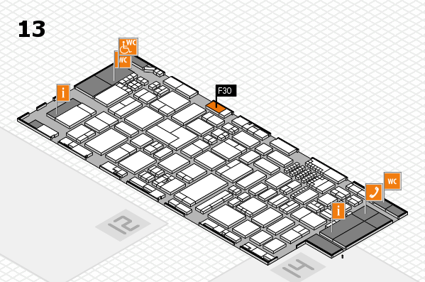 ProWein 2018 hall map (Hall 13): stand F30